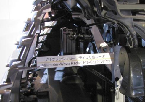 新型「クラウン」に搭載されているミリ波レーダー