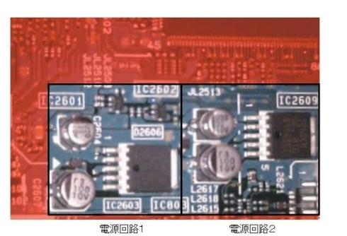 図5 基板上のDC-DC電源