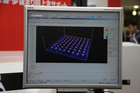 図6 ハンダの形状を高い精度で計測し3D表示できる