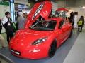 クアルコムが展示したEVスポーツカー「Delta E-4 Coupe」