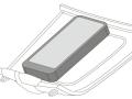 デンソーが開発した車載スマートフォン用ワイヤレス充電器