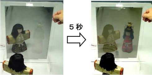 産総研が新たに開発したガスクロミック方式調光ミラーシートの試作品