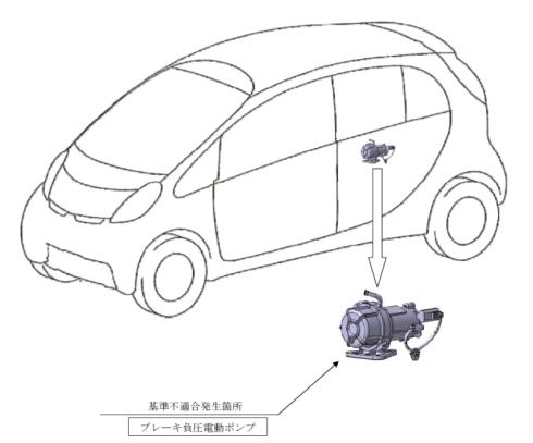 「i-MiEV」のリコールの原因となったブレーキ負圧電動ポンプ