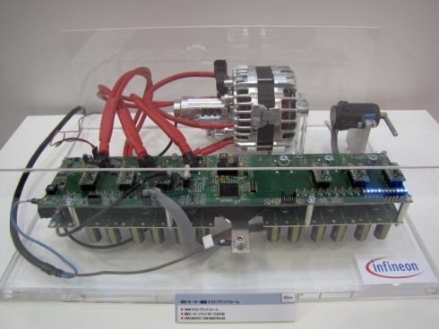 インフィニオンの48V車載電源システム向けのモーター駆動テストプラットフォーム