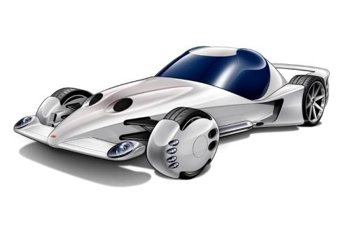 「やんちゃ」をテーマに走りに徹したスポーツカーのイメージイラスト
