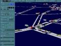 実証実験に用いられる豊田中央研究所の交通流シミュレータ「NETSTREAM」の画面例