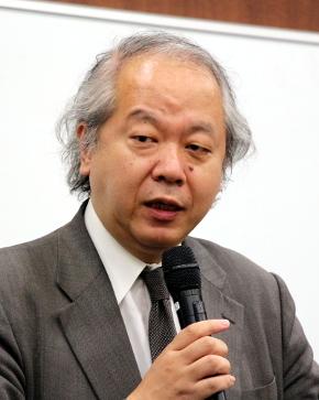 主催団体である統計数理研究所副所長の椿広計氏