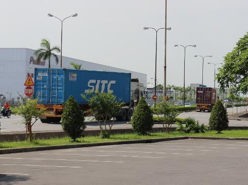 トラック輸送が中心