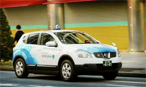 バッテリー交換方式のEVタクシーを使って東京都内で行われた実証試験