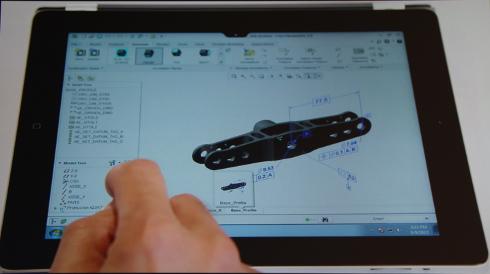 iPadによるCreo仮想デスクトップのイメージ図