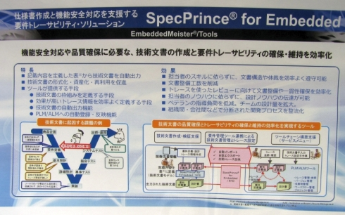 「SpecPrince for Embedded」の利用イメージ
