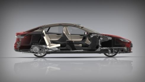 「モデルS」のカットモデル