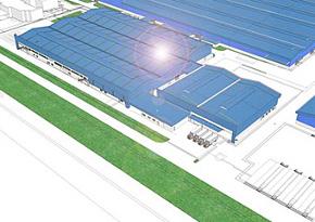 マツダの新車両組み立て工場の完成予想図