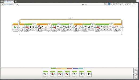 教育版 EV3 ソフトウェア(提供:アフレル)