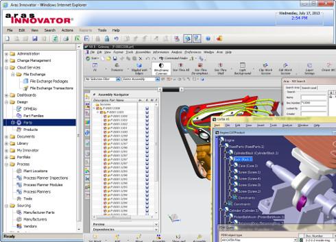 Aras Innovatorの画面イメージ
