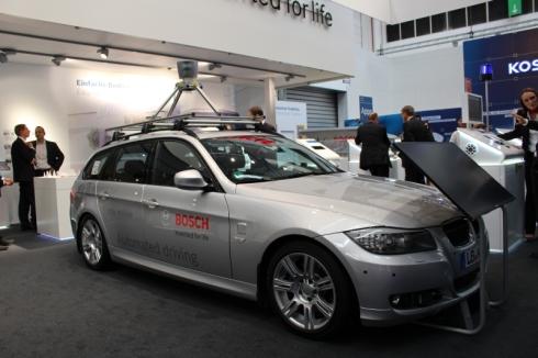 ボッシュが欧米で実証実験を行っている自動運転車