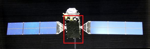 準天頂衛星の小型模型