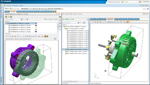 PTC Windchill 10.2 で生産技術エンジニアが工程計画を視覚的に作成