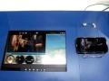 4台のタブレット端末を用いた通信連携のデモ