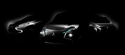 三菱自動車が「第43回東京モーターショー2013」で世界初披露する3台のコンセプトカーのイメージ