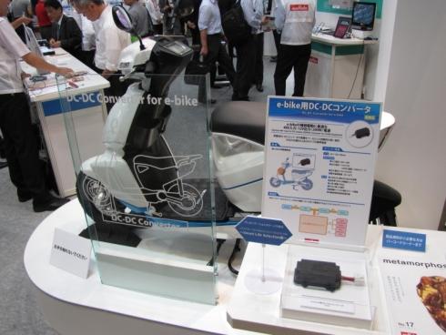 村田製作所が展示したテラモーターズの電動バイク「A4000i」