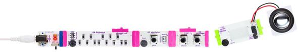 アナログシンセサイザーをモジュール化したキット「littleBits Synth Kit」