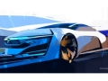 「Honda FCEV CONCEPT」のデザインスケッチ