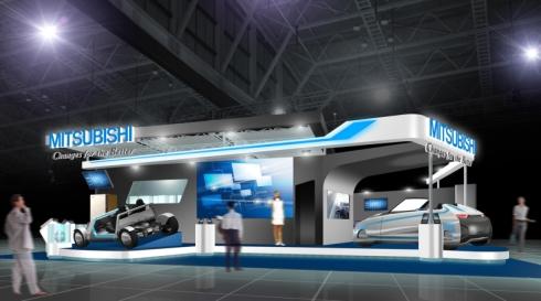 三菱電機の「東京モーターショー2013」のブースイメージ