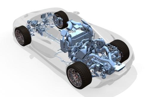 「McLaren P1」の内部構造