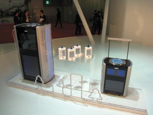 「FC-Dock 20C」と「FC-Dock 5C」の展示