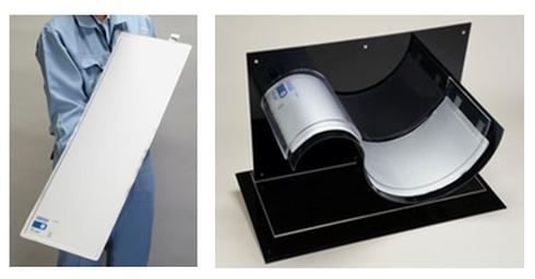 積水化学工業が新開発した技術を用いて試作したリチウムイオン電池セル