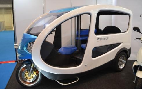 テラモーターズの電動三輪タクシー