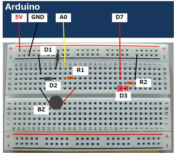 部品の配置図