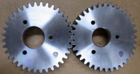 2段変速の変速機に対応する非円形歯車対