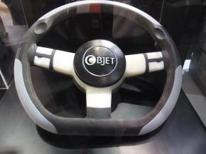 「Objetシリーズ」で造形したステアリングのハンドル部