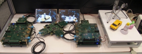 ソニーのGVIFを用いたサラウンドビューシステムのデモ