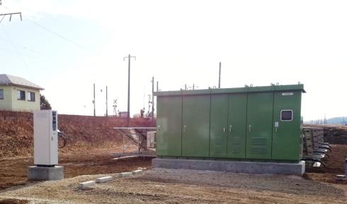 宮城県岩沼市内に設置された「農業用充電ステーション」
