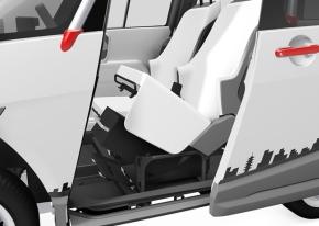 リチウムイオン電池パックのカセットは座席の下部に取り付ける