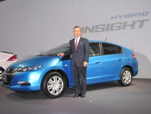 2009年2月発表の「インサイト」と当時ホンダ社長だった福井威夫氏