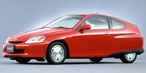ホンダ初のハイブリッド車となった初代「インサイト」