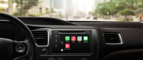 ホンダ車の「CarPlay」のホームスクリーン