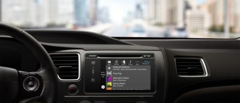 ホンダ車の「CarPlay」の音楽再生画面