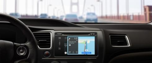 ホンダ車の「CarPlay」のカーナビゲーション画面