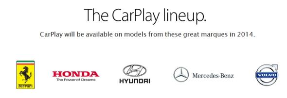 2014年内に「CarPlay」対応車両を投入する5社
