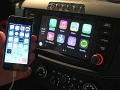 フェラーリ「FF」の車載機に「iPhone」を接続して「CarPlay」を起動した状態