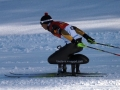 TMGが設計/開発したシットスキーを装着してレースを行うアンドレア・エズカウ選手