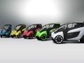 「i-ROAD」の5色のカラーバリエーション