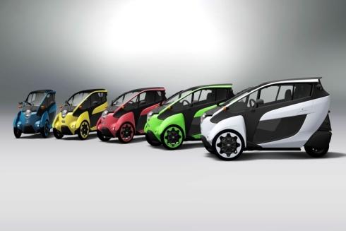 「i-ROAD」の5色カラーバリエーション