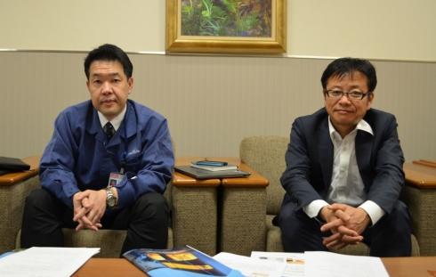 村田製作所の初代幸治氏(左)と藤田真氏