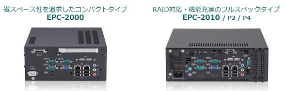 Windows Embedded搭載の組み込みPCの例